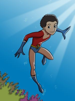 Aqualad Illustration: Giorgio Cantu