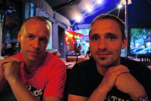 Robert Långström och Paul Bogatir i Berlin. Foto: Markus Nordin